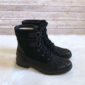 UGG Black Azaria Waterproof Duck Boots